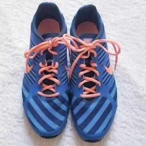 Nike Training Dual Fusion TR Blue & Tangerine